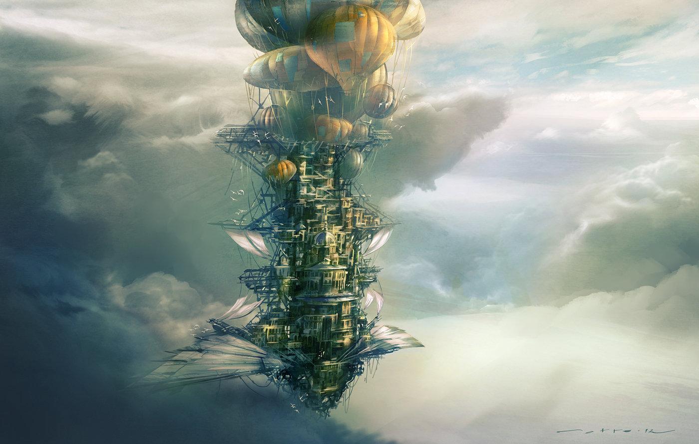 Flying City by J.Otto Szatmari
