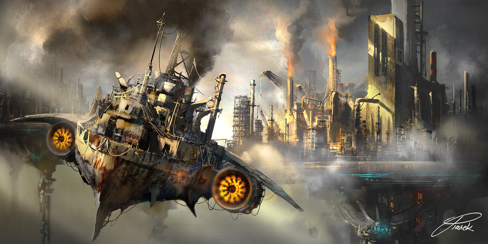 flying ship by Krzysztof Piasek