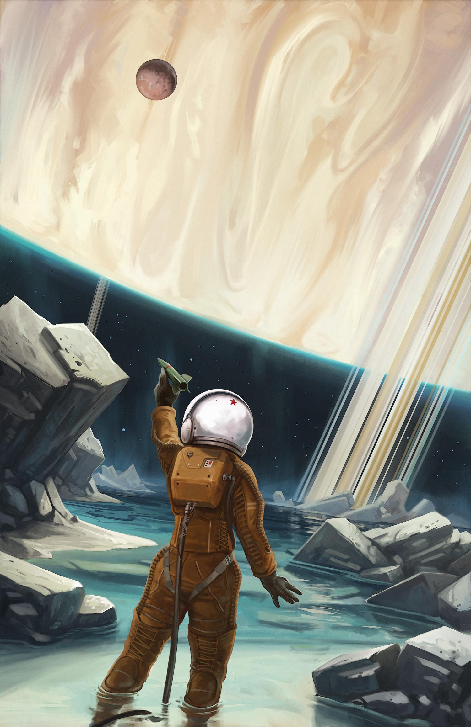 The Lonely Cosmonaut: Island Moon by Randall Mackey