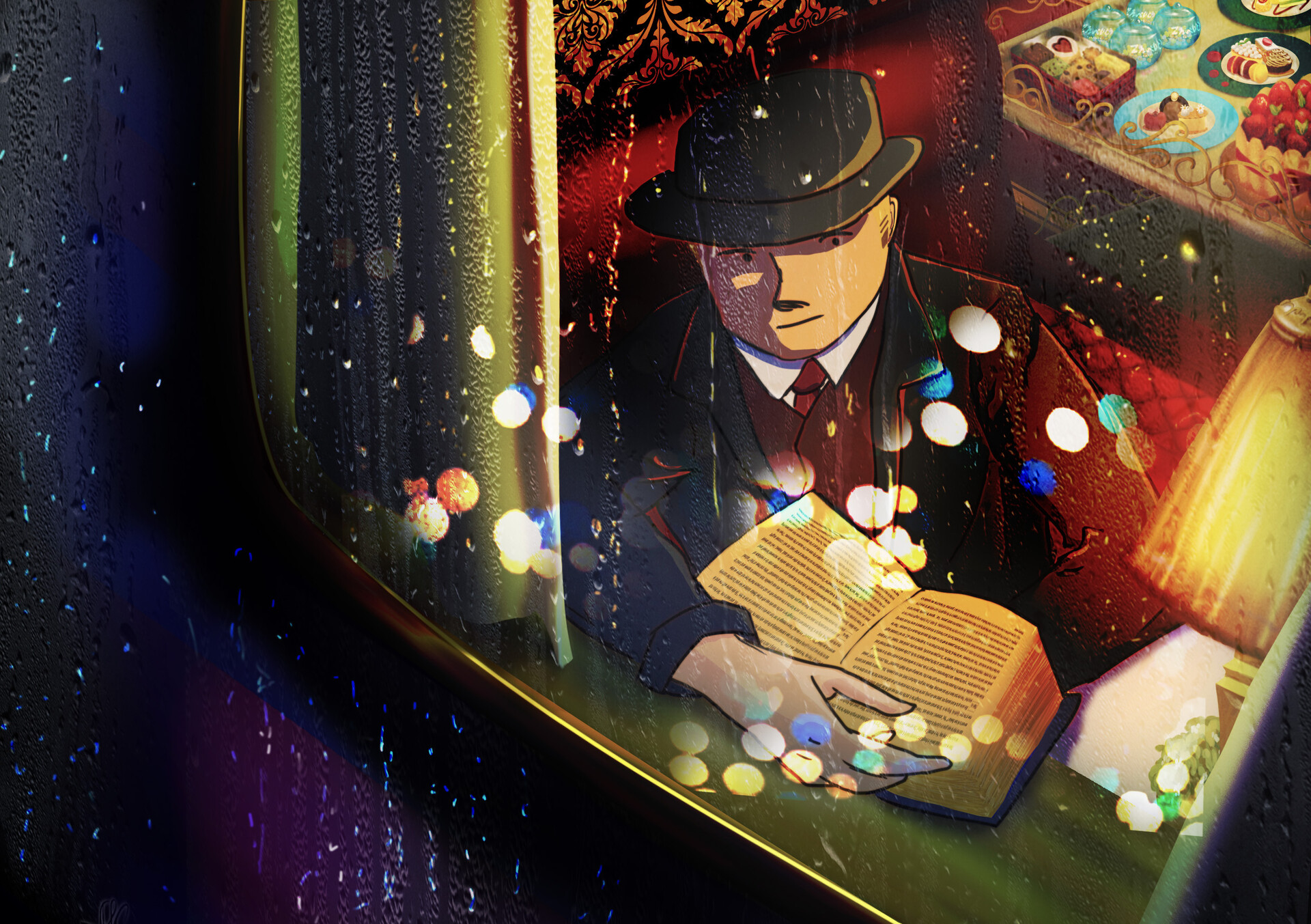 Man in the Train by Andrew Aliwarga