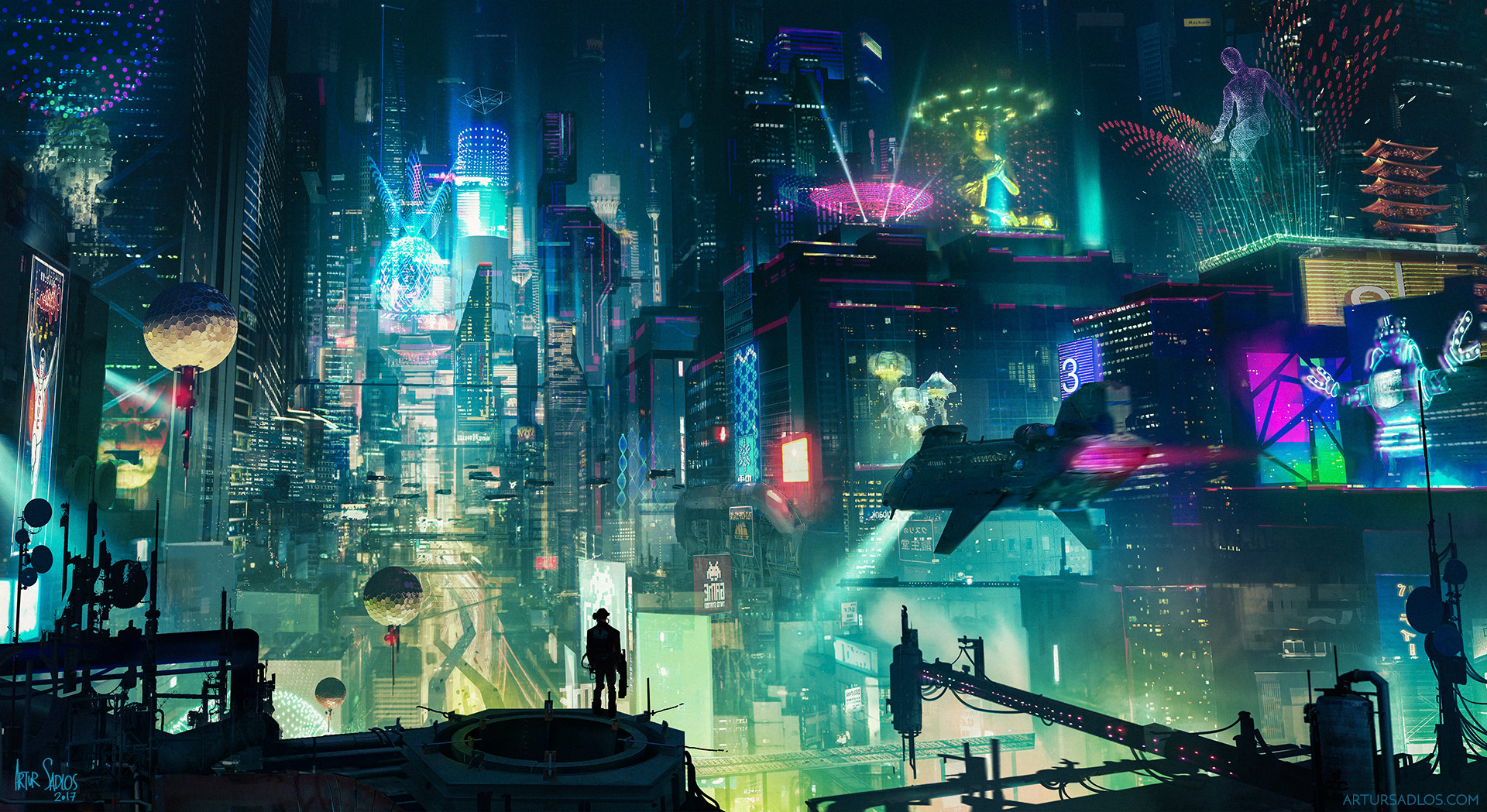 Cyberpunk City by Artur Sadlos