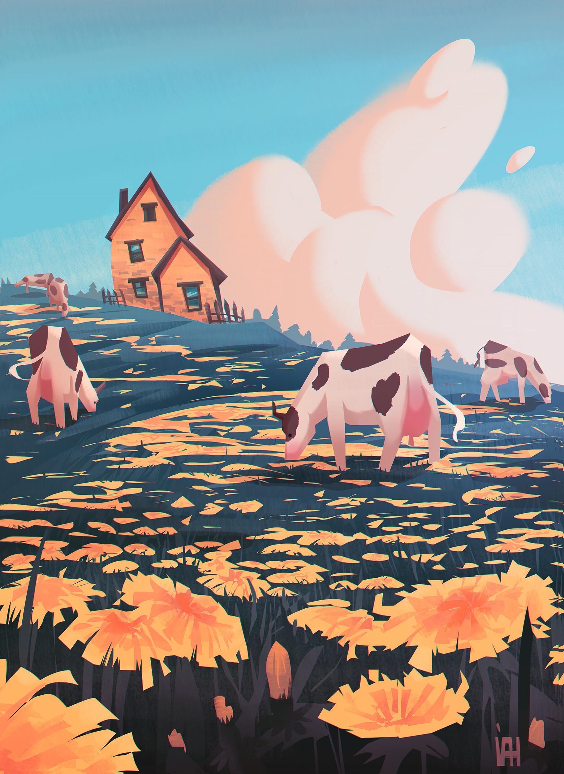Cow Fields by Valerie Zaslavskaya
