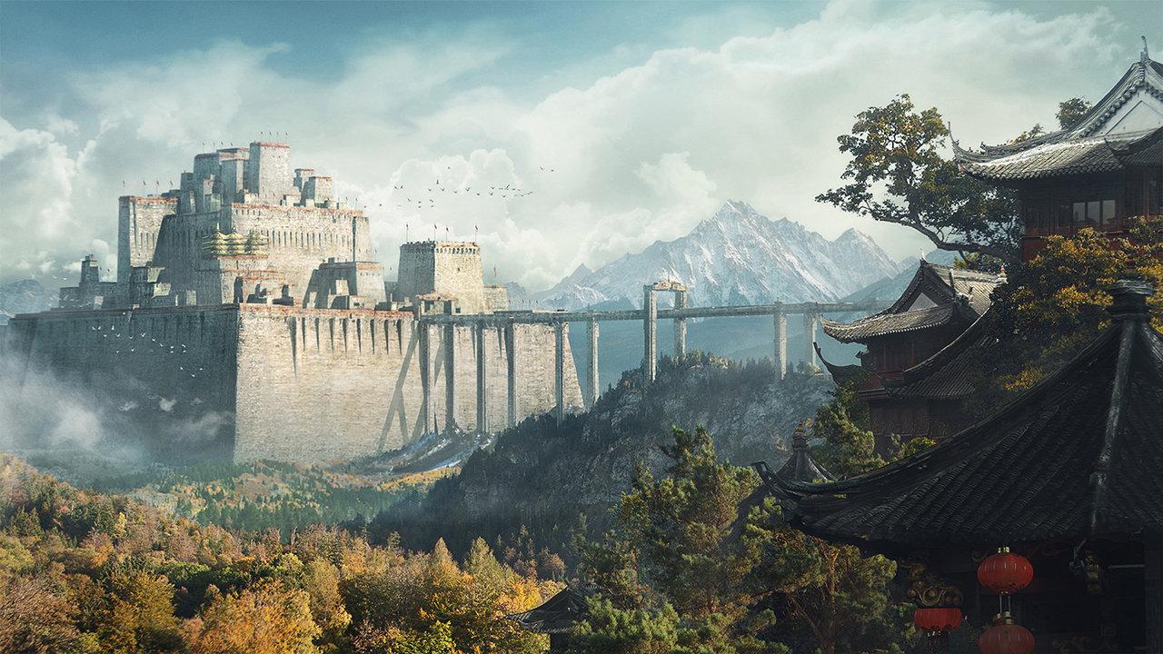 Ancient Walled Kingdom by Nikolay Razuev